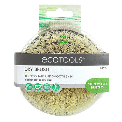 EcoTools Dry Brush, Gentle Pore Cleansing Brush, Dry Body Brush Bamboo Handle Scrubber