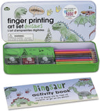 NPW Finger Printing Art Set in Tin - Dinosaurs - Arts and Crafts Kit