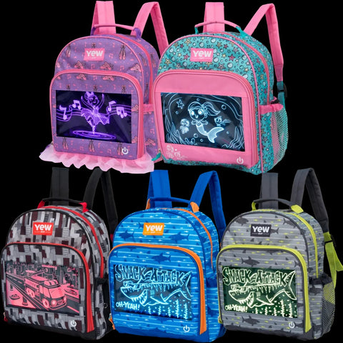 Yew Stuff POP Lights Light-Up Preschool Backpack - Ballerina / Shark