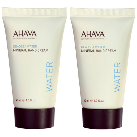 (2 Pack) Ahava MINERAL HAND CREAM Deadsea Water Moisturizing Lotion Travel Size 1.3oz