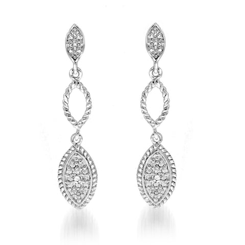 Rope Edge Design Diamond Earrings