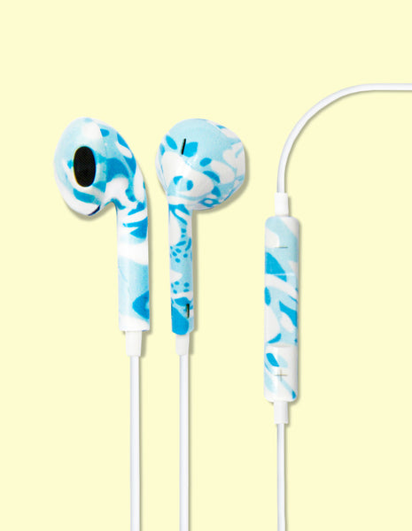 Earbud Headphones - Aloha Blue - Unmanned