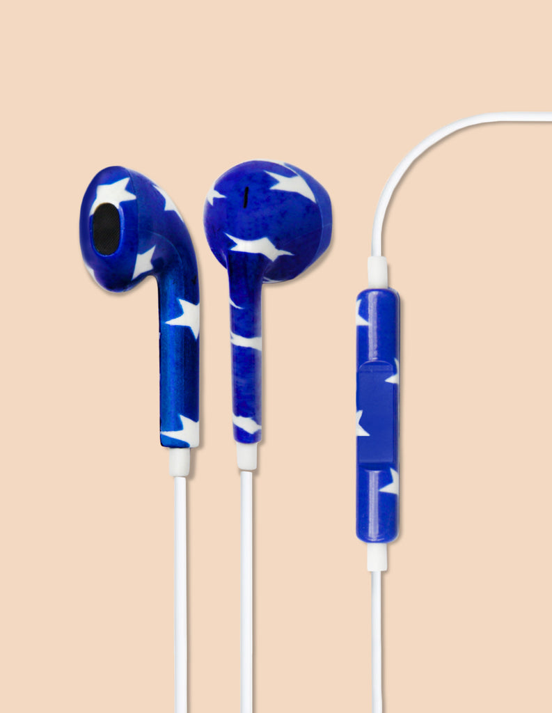 Earbud Headphones - Patriotic Star - Unmanned