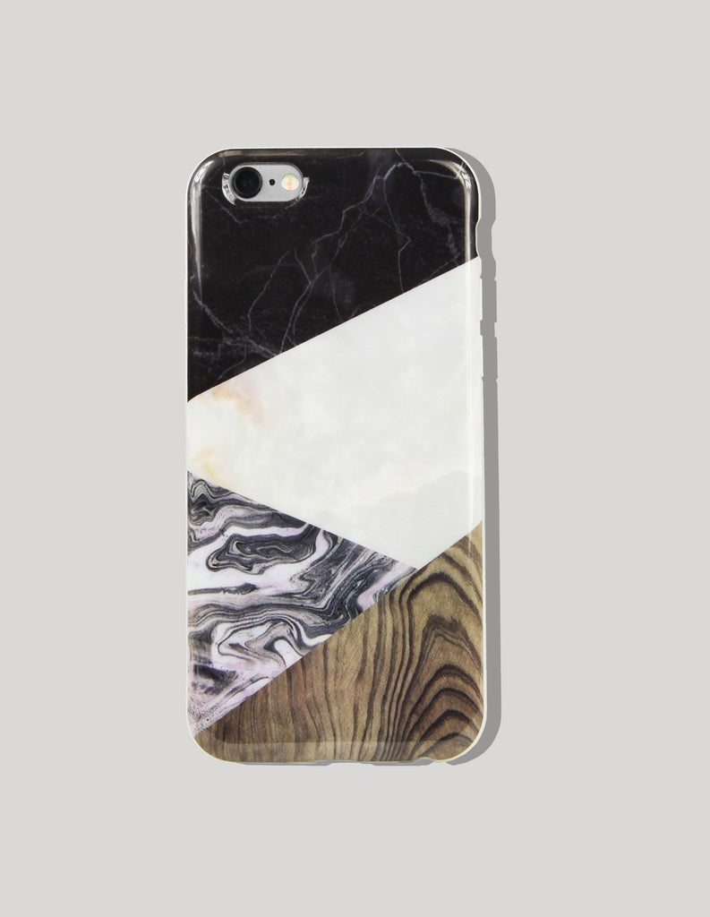 iPhone Case - Marble Print (Color Block) - Unmanned - 3