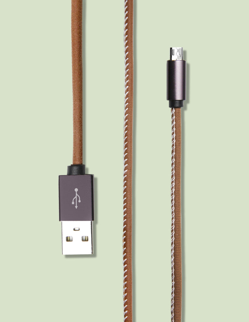 Micro USB - Top Stitch Leather - Unmanned - 1