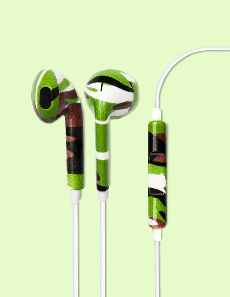 Earbud Headphones - Camouflage - Unmanned