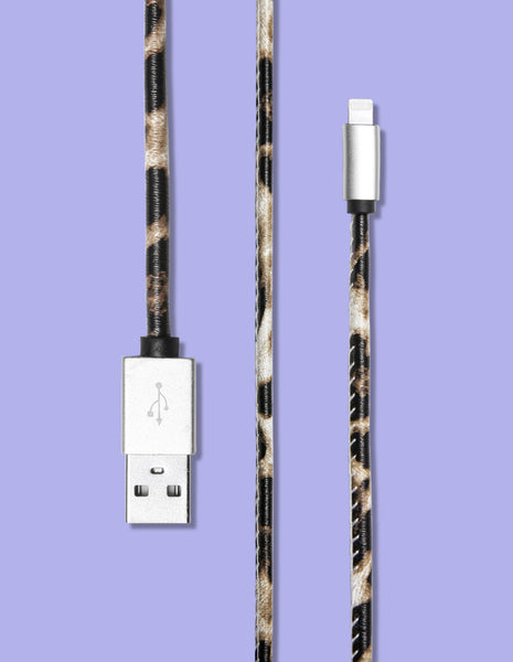 Lightning Cable - Cheetah Print - Unmanned