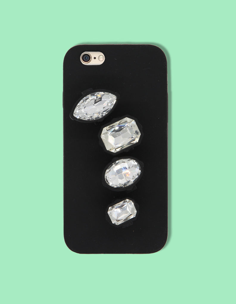 iPhone Case - Silicone Diamond Brass Knuckle - Unmanned - 1