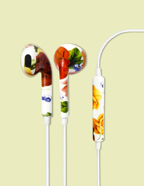 Earbud Headphones - Classic Floral - Unmanned