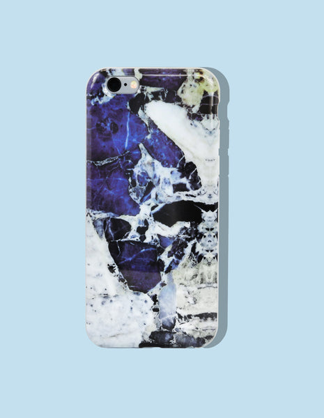 iPhone Case - Marble Print (Lapis) - Unmanned