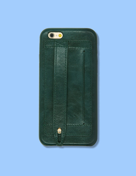 iPhone Case - Card Holder and Hand Strap - Unmanned