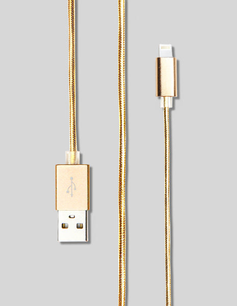 Lightning Cable - Metallic Nylon - Unmanned - 1