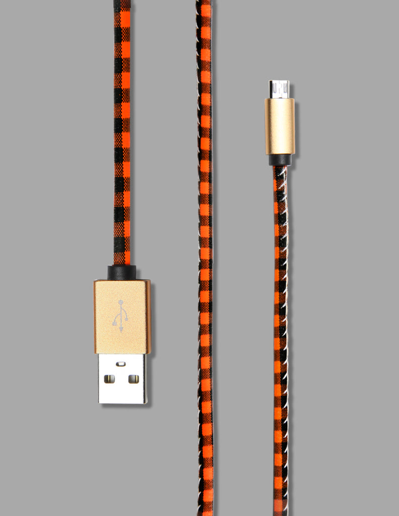 Micro USB - Plaid Print - Unmanned