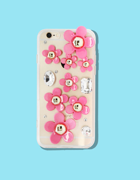 iPhone Case - 3D Daisy and Jewels - Unmanned - 1