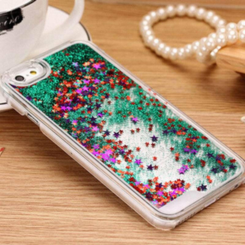 New Fashion Liquid Glitter meteor sand sequins Colorful Dynamic Transparent Hard Mobile Phone cases For iphone4s/5 SE/6 6s/6Plus - Unmanned - 3