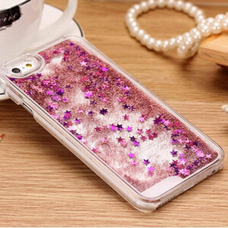 New Fashion Liquid Glitter meteor sand sequins Colorful Dynamic Transparent Hard Mobile Phone cases For iphone4s/5 SE/6 6s/6Plus - Unmanned - 5