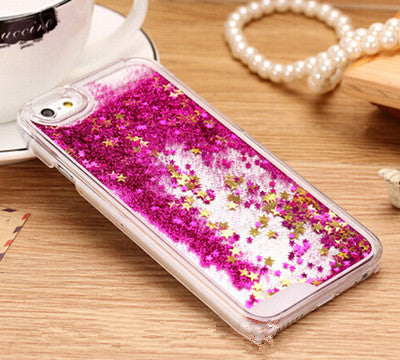 New Fashion Liquid Glitter meteor sand sequins Colorful Dynamic Transparent Hard Mobile Phone cases For iphone4s/5 SE/6 6s/6Plus - Unmanned - 4