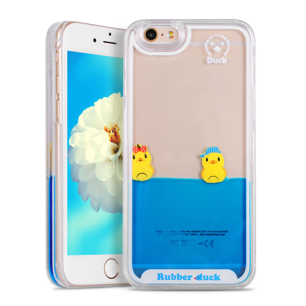 Liquid Swimming Duck Hard Case For 7 and 7 Plus Phone Cases - Unmanned - 5