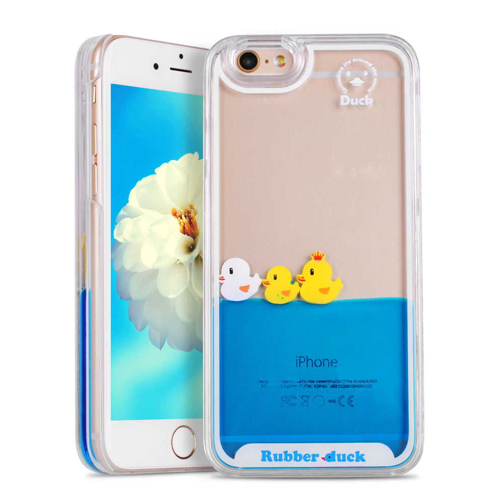 Liquid Swimming Duck Hard Case For 7 and 7 Plus Phone Cases - Unmanned - 3