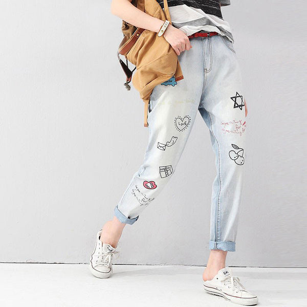 Harem Jeans with print - Unmanned - 1