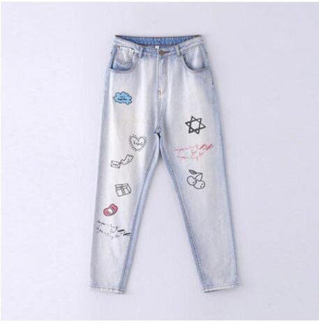 Harem Jeans with print - Unmanned - 2