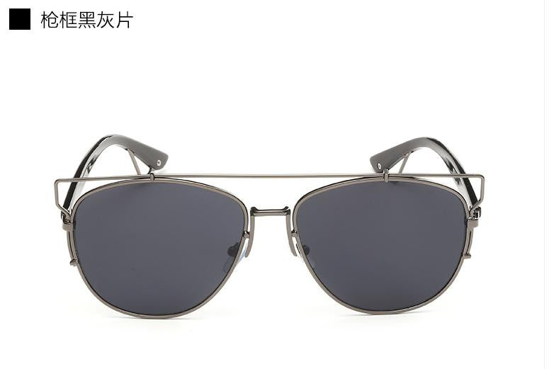 Trim Frame Mirror Sun Glasses - Unmanned - 1