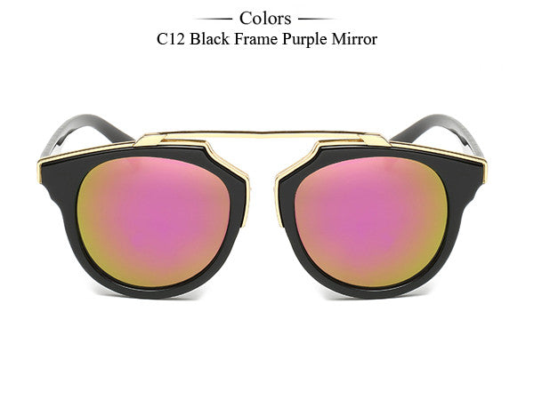 Trim Frame Cat Eye Sunglasses - Unmanned - 10