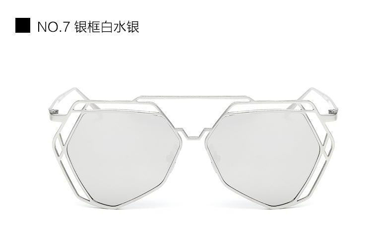 Geometric Oversized Sunglasses - Unmanned - 4