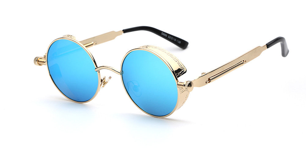 Steampunk Round Mirror Sunglasses - Unmanned - 5