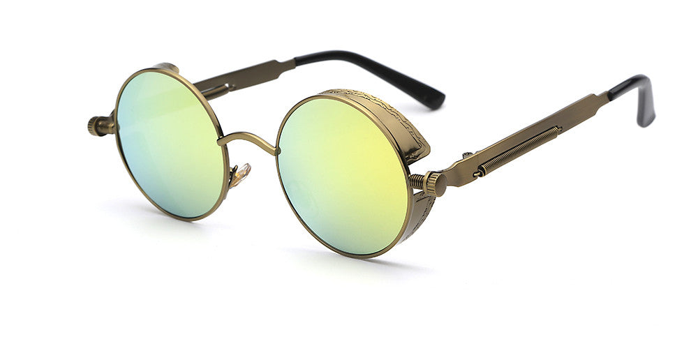 Steampunk Round Mirror Sunglasses - Unmanned - 2