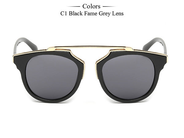 Trim Frame Cat Eye Sunglasses - Unmanned - 8