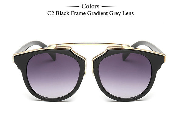 Trim Frame Cat Eye Sunglasses - Unmanned - 9