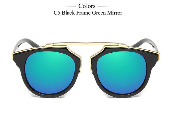 Trim Frame Cat Eye Sunglasses - Unmanned - 15