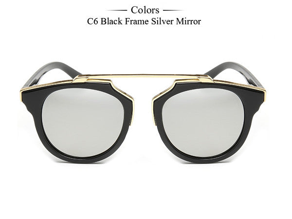 Trim Frame Cat Eye Sunglasses - Unmanned - 1