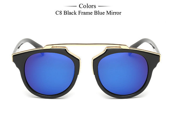 Trim Frame Cat Eye Sunglasses - Unmanned - 13