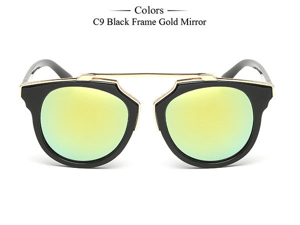 Trim Frame Cat Eye Sunglasses - Unmanned - 14