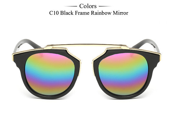 Trim Frame Cat Eye Sunglasses - Unmanned - 7