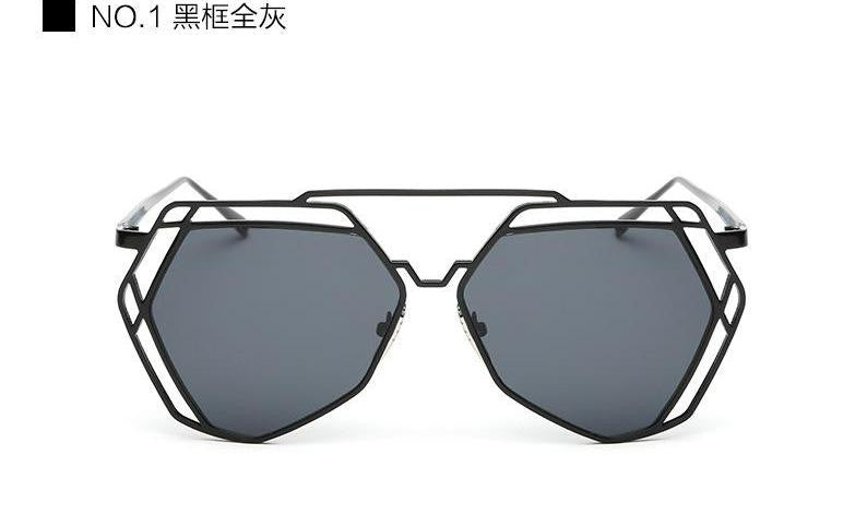 Geometric Oversized Sunglasses - Unmanned - 6
