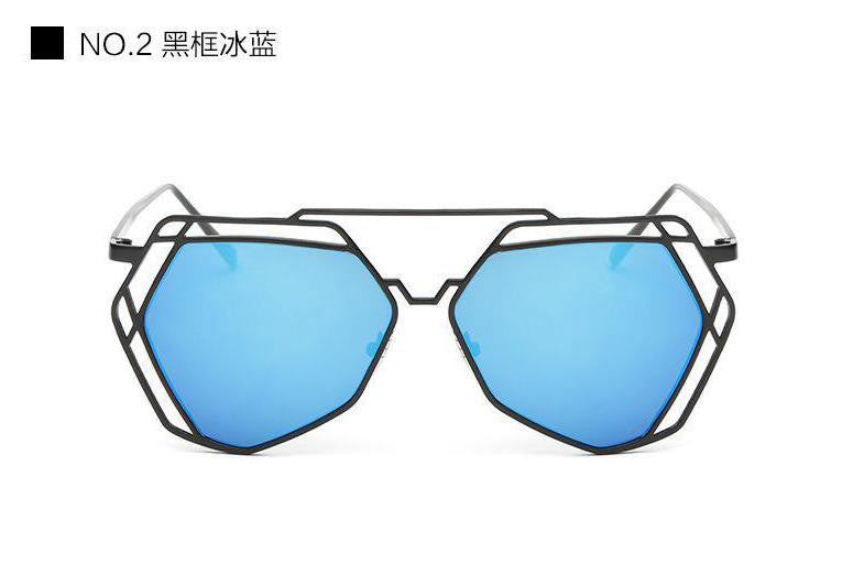 Geometric Oversized Sunglasses - Unmanned - 8