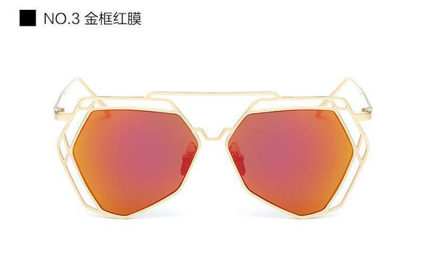 Geometric Oversized Sunglasses - Unmanned - 1