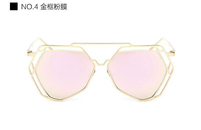 Geometric Oversized Sunglasses - Unmanned - 7