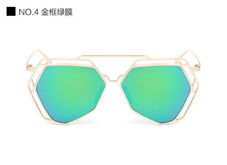 Geometric Oversized Sunglasses - Unmanned - 5
