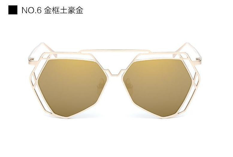 Geometric Oversized Sunglasses - Unmanned - 3