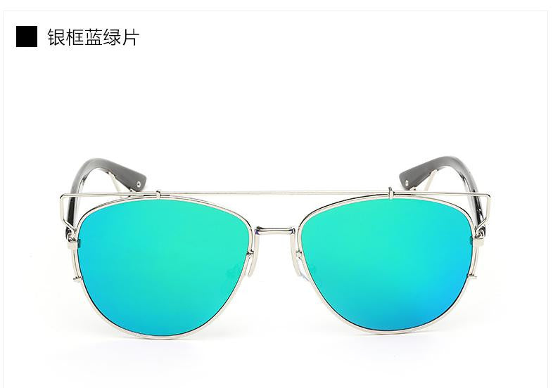 Trim Frame Mirror Sun Glasses - Unmanned - 5