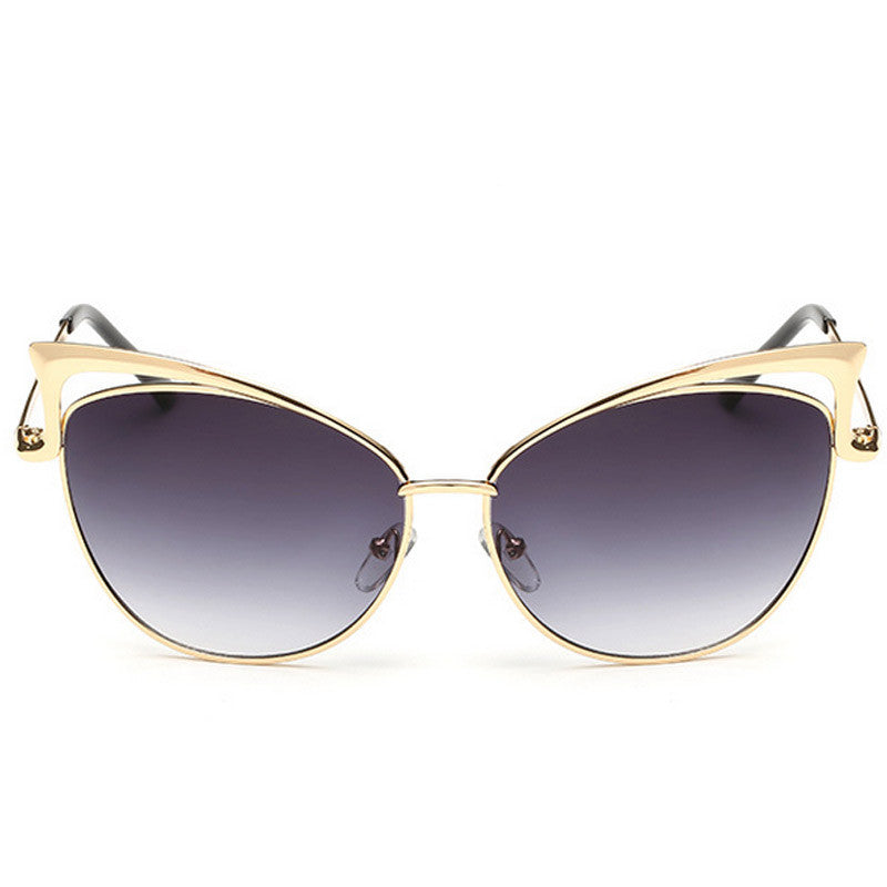 Cut-Out Cat Eye Sunglasses - Unmanned - 2