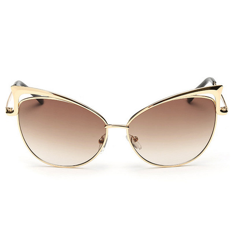 Cut-Out Cat Eye Sunglasses - Unmanned - 5