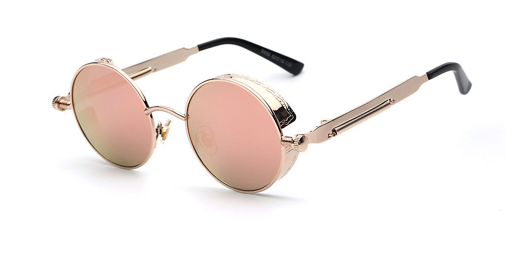 Steampunk Round Mirror Sunglasses - Unmanned - 9