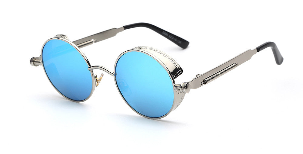 Steampunk Round Mirror Sunglasses - Unmanned - 6