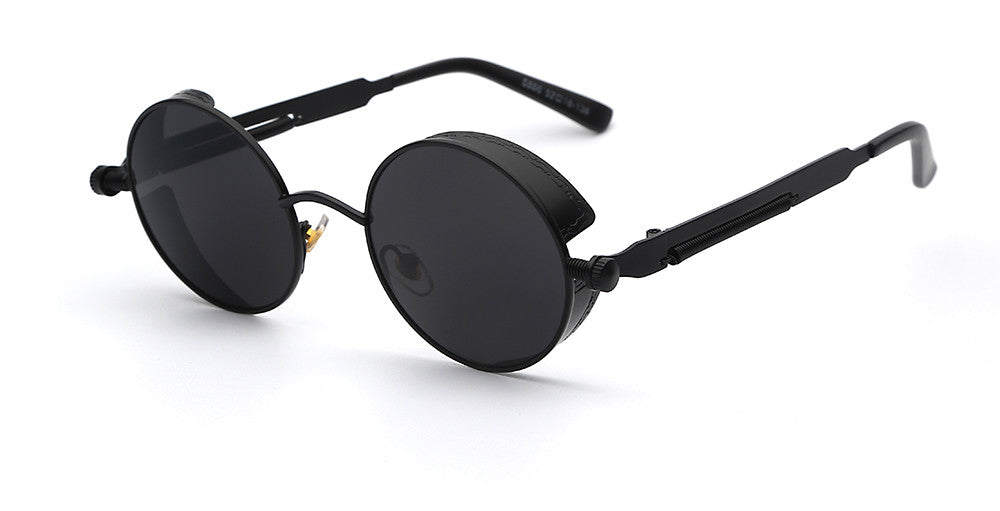 Steampunk Round Mirror Sunglasses - Unmanned - 3