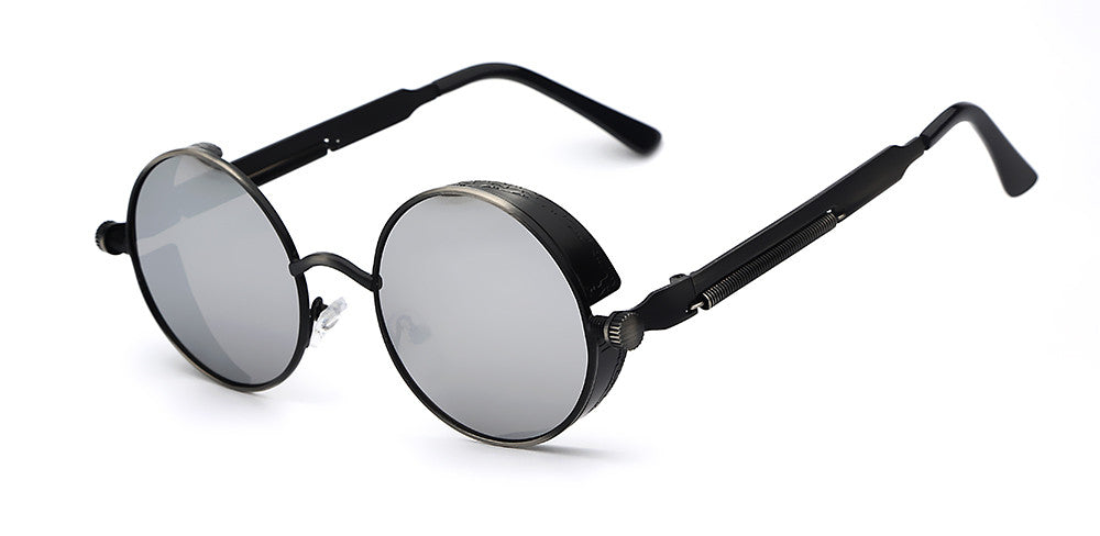 Steampunk Round Mirror Sunglasses - Unmanned - 7